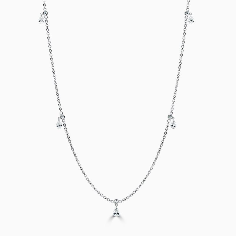Floating Diamond Necklace