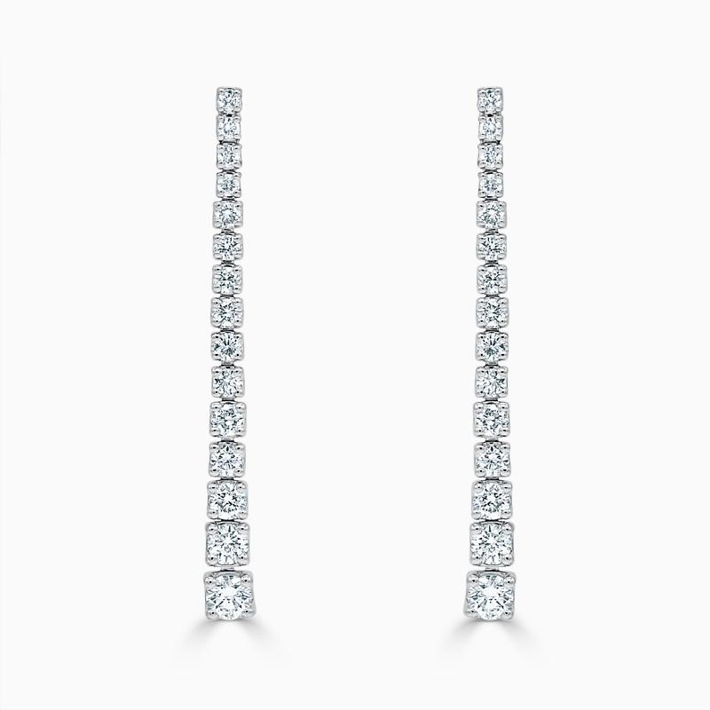 Tapered Diamond Drop Earrings