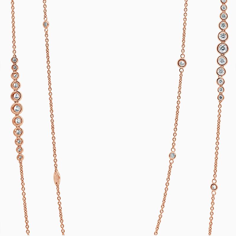 Rubover Set Long Diamond Necklace