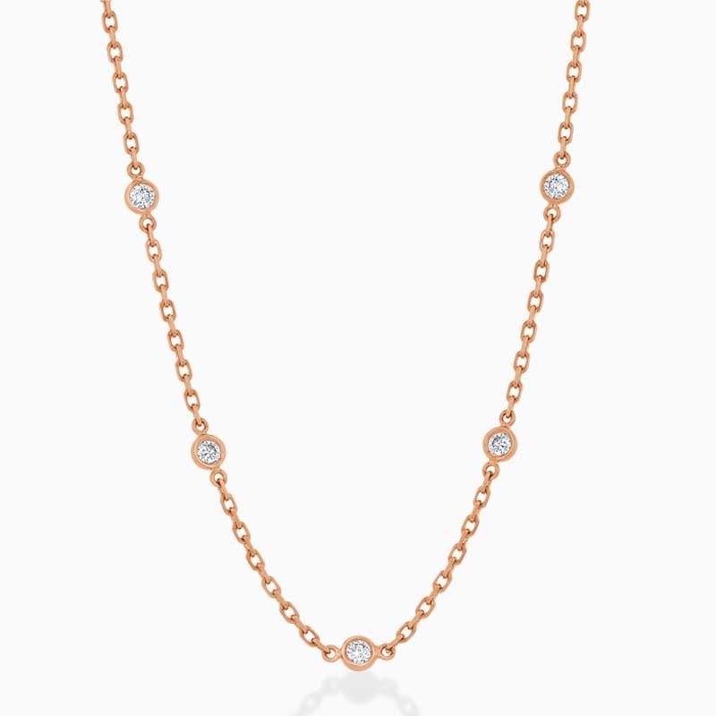 Spectacle Set Diamond Necklace - 5 Stone