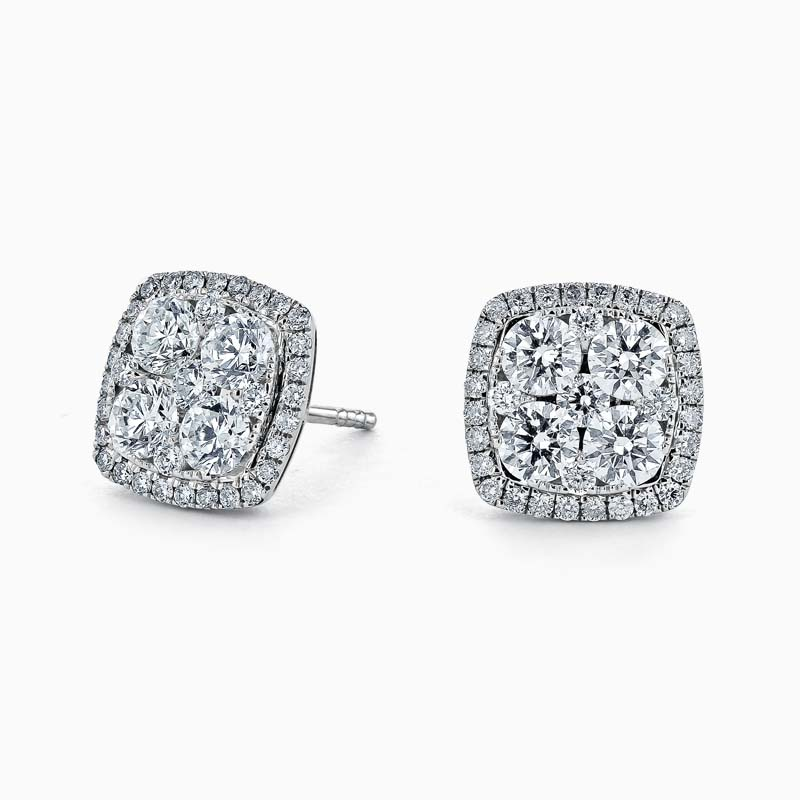 Diamond Cluster & Halo Studs