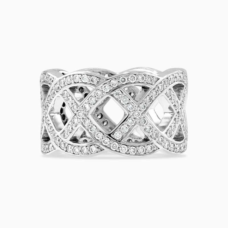 Woven Diamond Band Ring