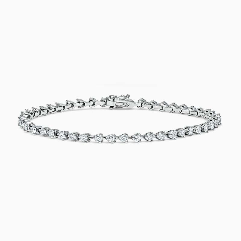 Round Brilliant Diamond 3 Claw Line Bracelet