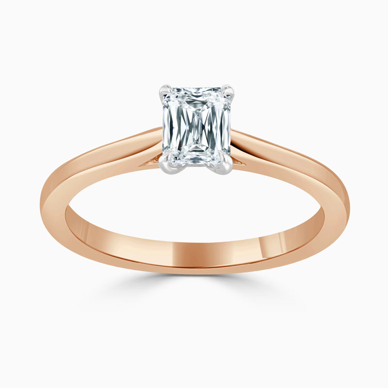 18ct Rose Gold Crisscut Classic Wedfit Engagement Ring with Crisscut, 0.59ct, G Colour, VVS2 Clarity - GIA