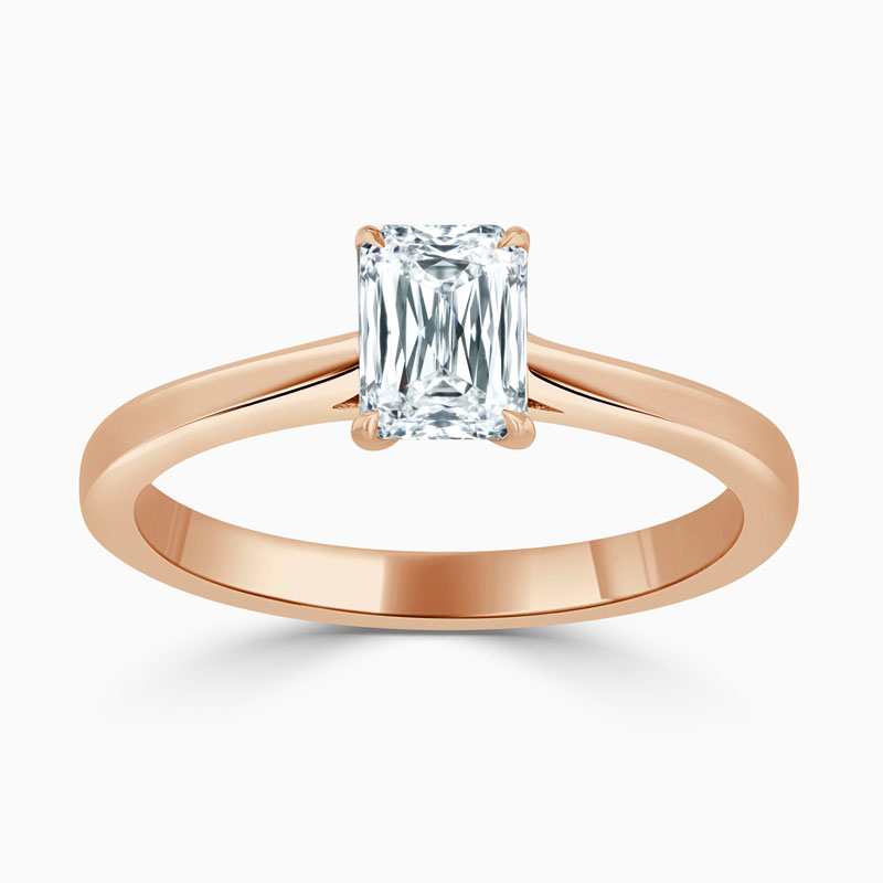 18ct Rose Gold Crisscut Classic Wedfit Engagement Ring with Crisscut, 0.74ct, G Colour, VVS2 Clarity - GIA