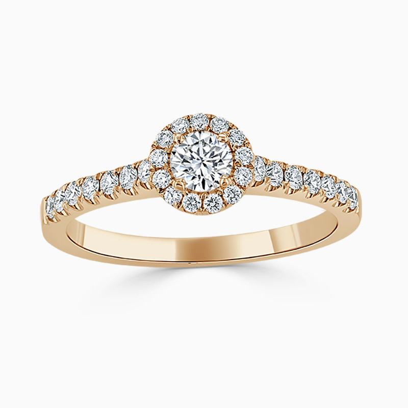 Round Brilliant Halo Diamond Engagement Ring