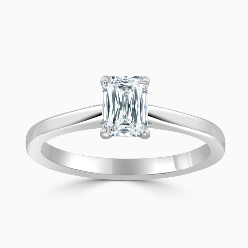 Platinum Crisscut Classic Wedfit Engagement Ring with Crisscut, 0.72ct, E Colour, VVS1 Clarity - GIA