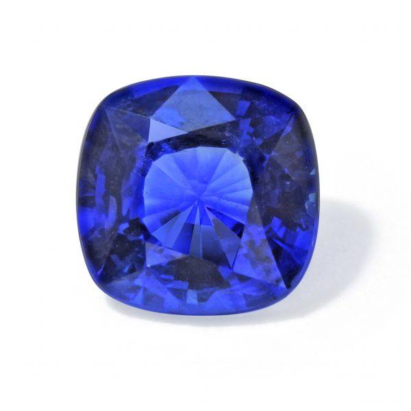 Cushion Cut Blue Sapphire by Steven Stone