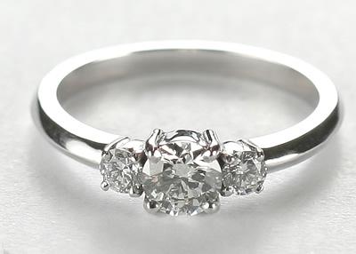 3 diamond engagement ring
