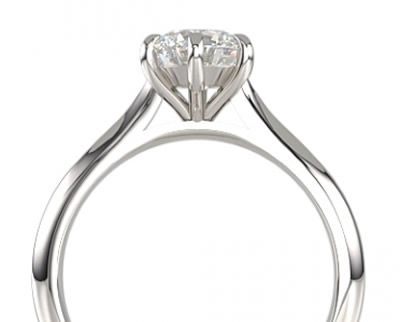 6-claw diamond engagement ring setting
