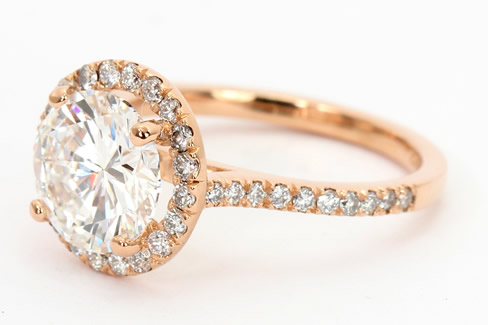 Cut down diamond setting