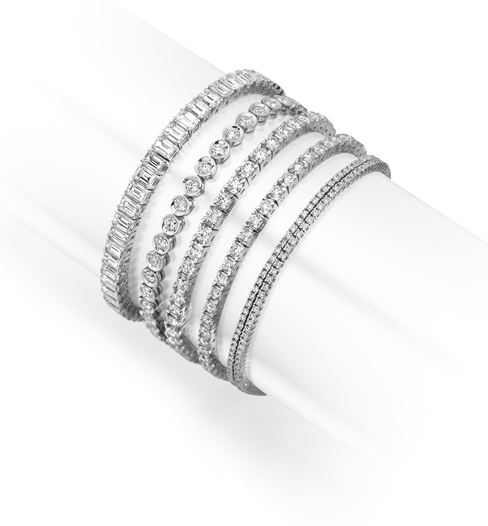 Diamond line bracelet style