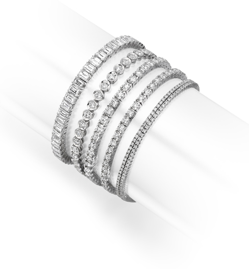 Diamond line bracelets jewellery