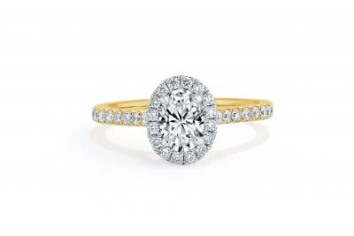 shoulder set diamond engagement ring