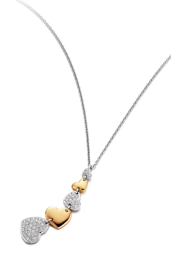 Heart diamond pendant design