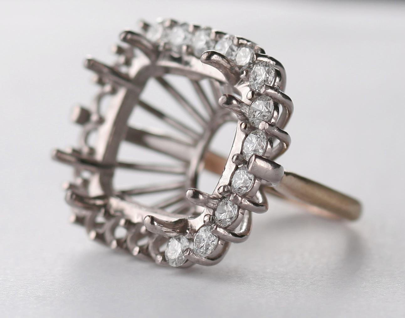 topaz and bespoke diamond ring