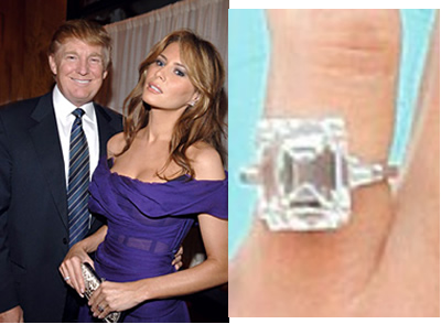 Melania Trump engagement ring