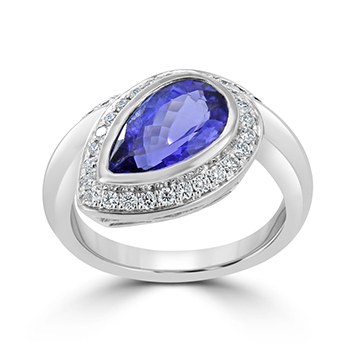 tanzanite and diamond alternative engagament ring i