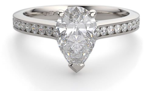 Create your own Pear Shape Engagement ring, and dazzle like Elizabeth Taylor