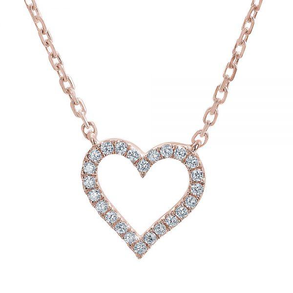 18ct Rose Gold Heart Pendant