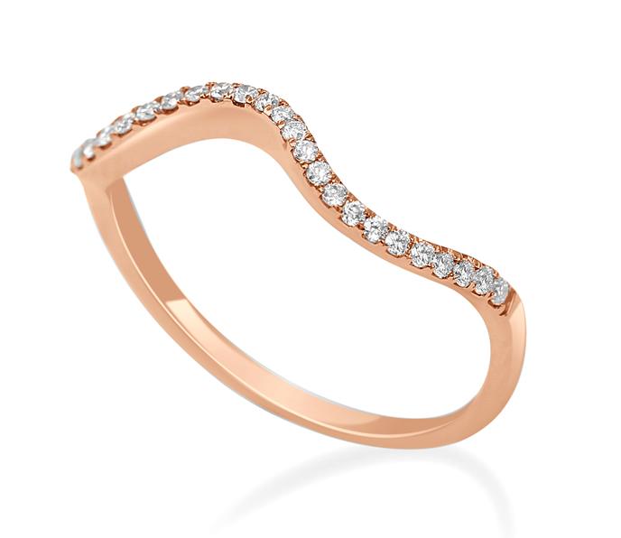 Rose gold stacking ring