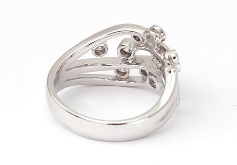 Row diamond ring new
