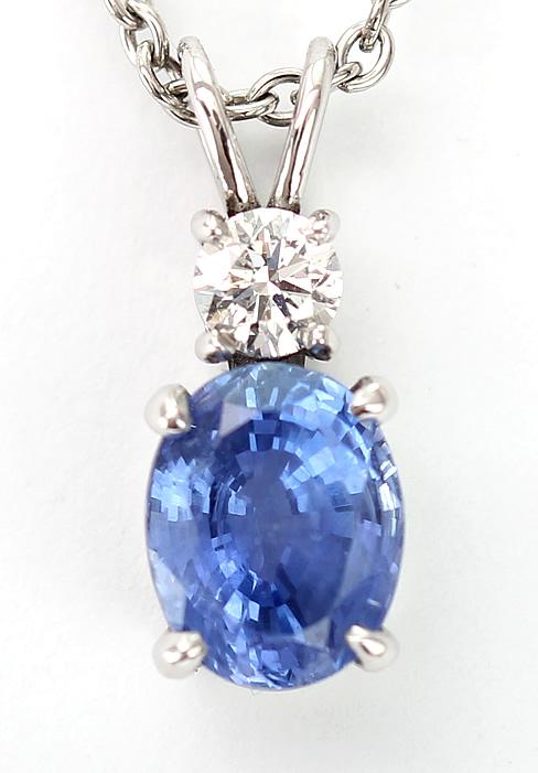 Sapphire and diamond pendant 2
