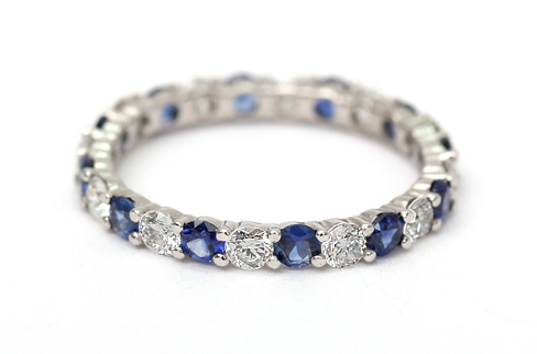 Sapphire and diamond ring style
