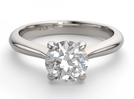Solitaire diamond engagement ring setting