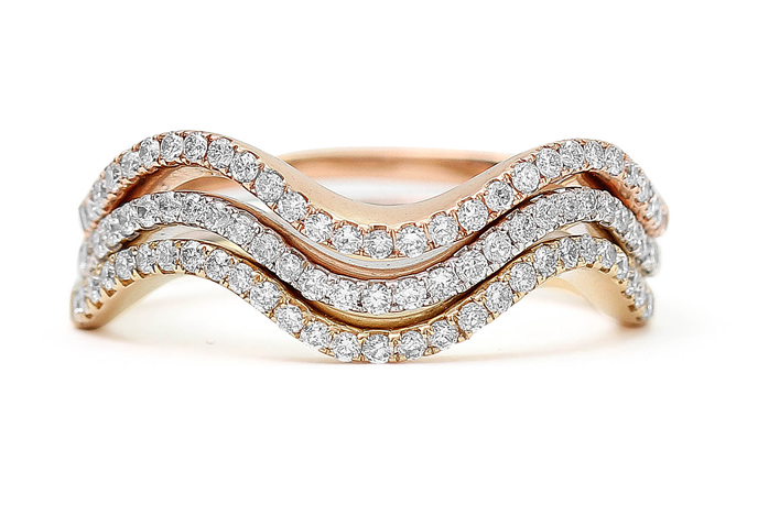 Stackable diamond ring styles