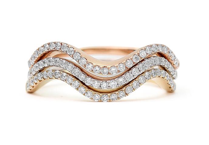 Stackable diamond rings fashion
