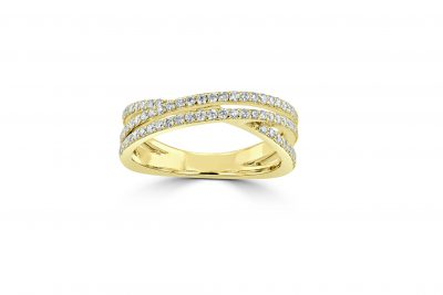 gold diamond eternity ring
