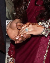 amir khan engagement ring