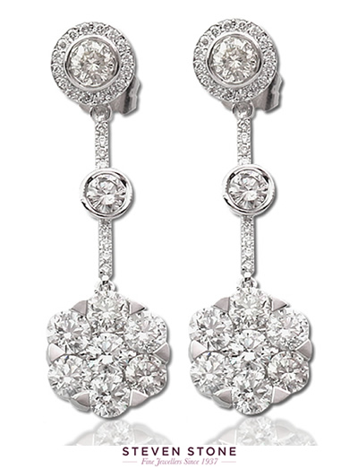 bespoke diamond drop earrings