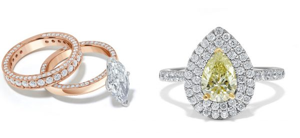 bespoke engagement ring ideas - add diamonds