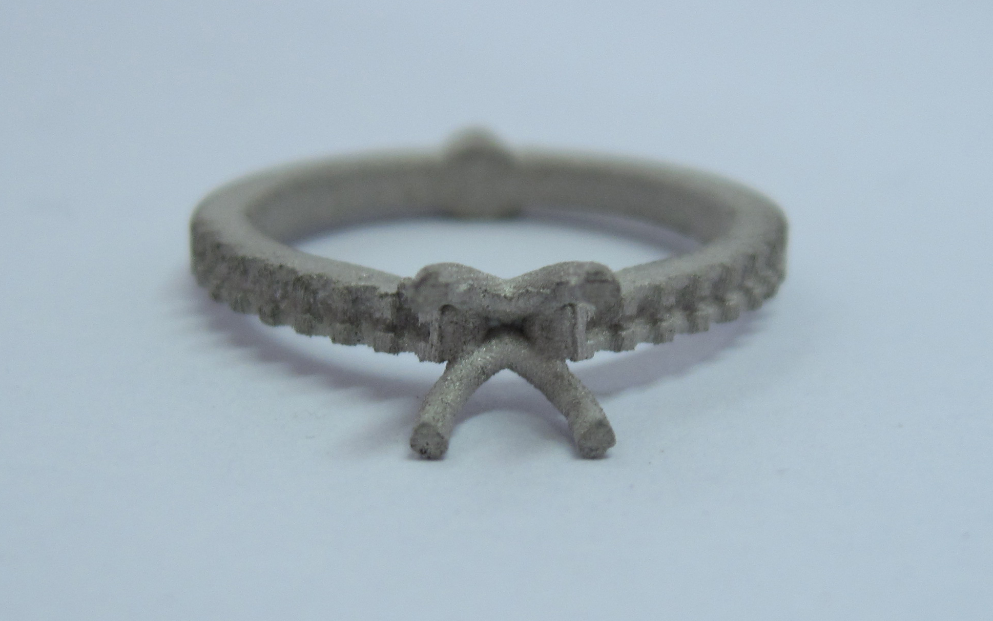 diamond cross over ring