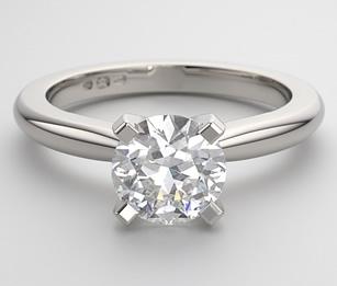 classic solitaire round brilliant diamond engagement ring