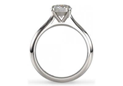 claw setting diamond engagement ring