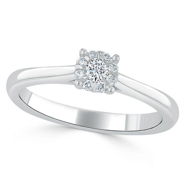 cluster-set-diamond-engagement-ring