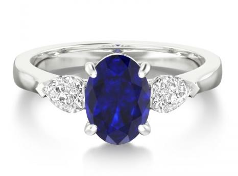 coloured stone enhahement ring setting
