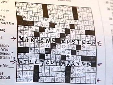crossword marriage proposal