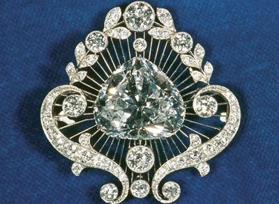 cullian heart shaped diamond brooch