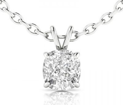 cushion cut diamond pendant