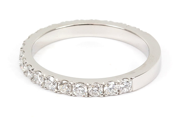 cut down set diamond wedding ring