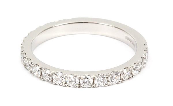 cut down set diamond wedding ring