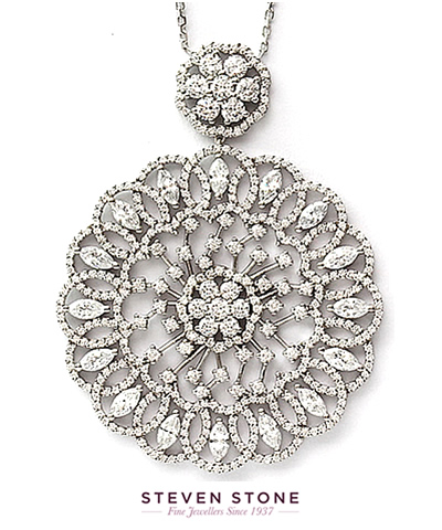 detailed diamond pendant