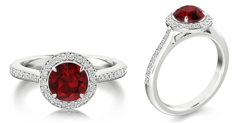 diamond and ruby engagement ring