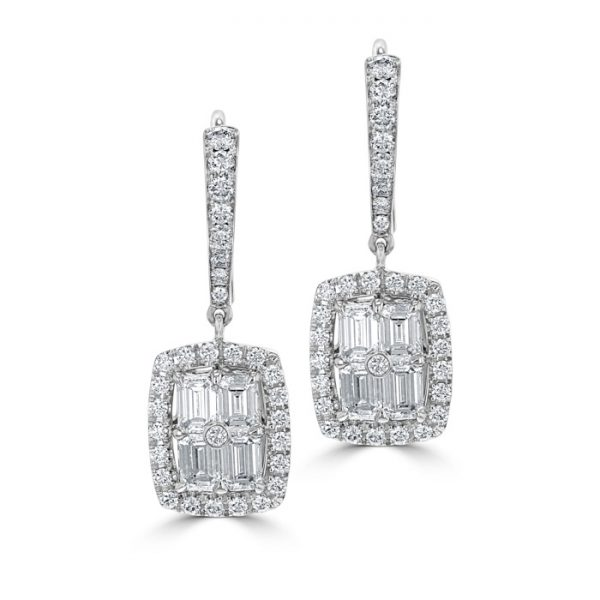 1930s wedding inspiration art deco diamond earrings