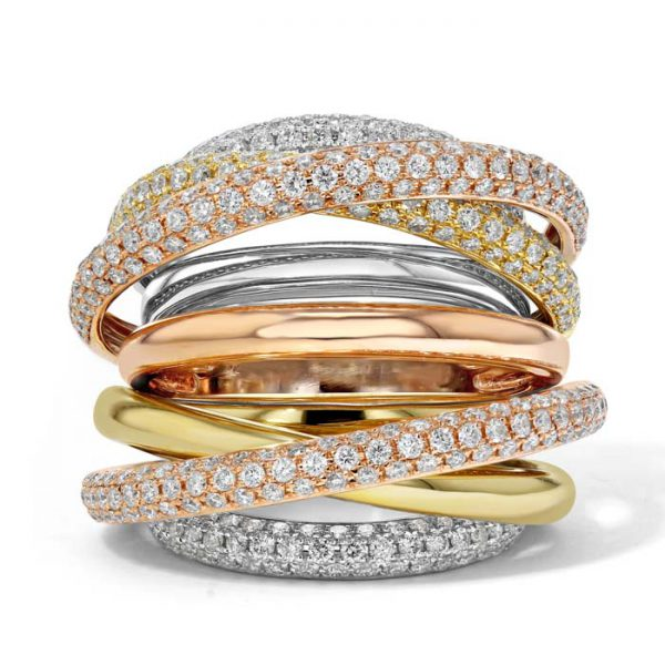 stacking rings - 2017 jewellery trend
