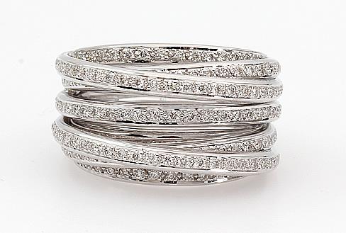 diamond row cluster ring